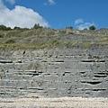 Lyme Regls聞名的岩層