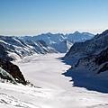 少女峰上的冰河地形