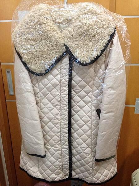 2.韓國小香風鋪棉保暖外套(附腰帶)