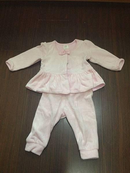 12.H&M 粉紅蝴結套裝 68cm