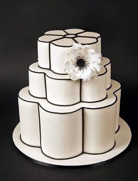 婚禮蛋糕scalloped-4