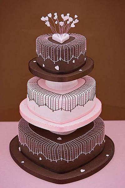 婚禮蛋糕heart-2