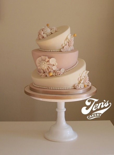 婚禮蛋糕topsy-turvy-1