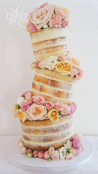 婚禮蛋糕topsy-turvy-3