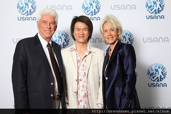 USANA創辦人華斯博士華斯夫人與我