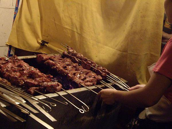 酒店附近的烤肉