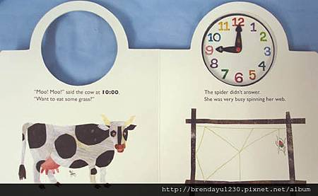 TELL TIME WITH VERY BUSY SPIDER-IN