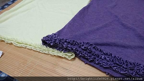小穎HEATHER背心 黃 vs 多年前不知跟某日貨賣家買的Pageboy荷葉背心 紫