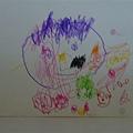花妮的第一張畫作