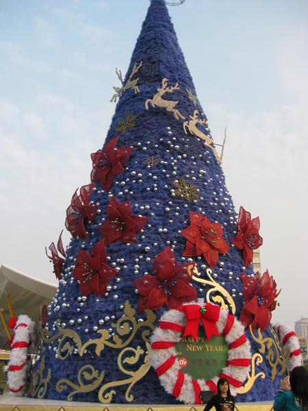 中央公園站的聖誕樹