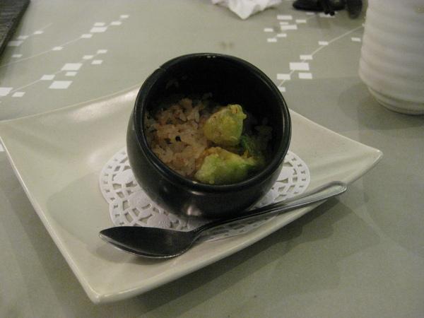 櫻花蝦蒸飯
