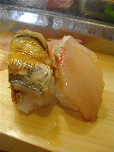 最後還有烤饅握壽司跟白肉魚。早上吃這麼多又這麼好,好像有點太奢侈了