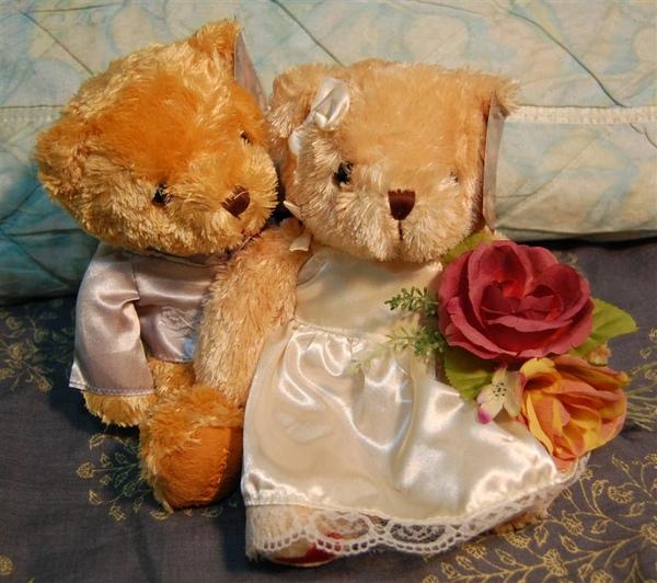 新郎抱新娘,很恩愛的樣子