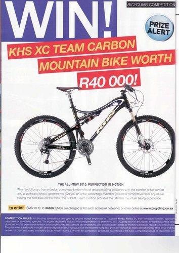 該雜誌並以專文介紹 KHS  XC Team Carbon.jpg