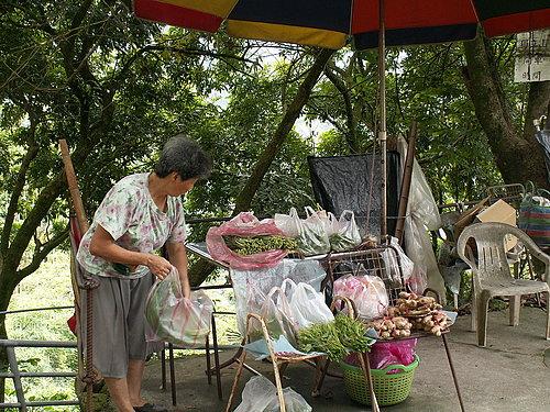 賣野菜的婆婆 便宜又新鮮.jpg