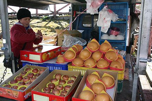 美麗漂亮的老闆娘 說真的 不管是水梨或蘋果都是是很甜很好吃 老闆娘也是很阿沙力給了非常漂亮的價格.jpg