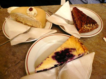 cakes at Cafe Gnosa