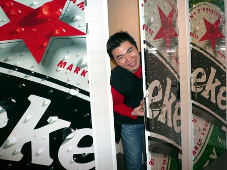 Bryan in Heineken Experience