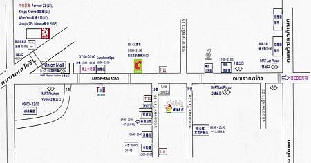 樂活民宿周遭地圖