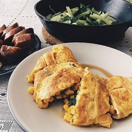 2018_053 「青菜吃」玉米。蛋。羅勒.jpg