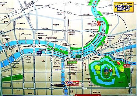 大阪水上巴士~宮之櫻.天滿橋.中之島.大阪城公園圖.jpg