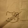 機上的餐巾紙