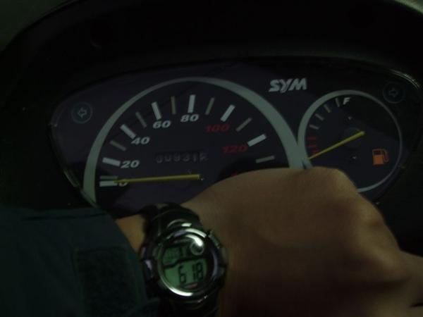出發時的里程931.2km