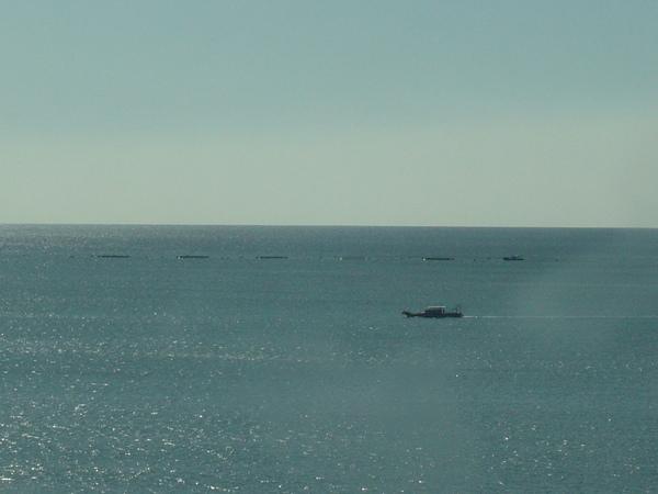 捕魚中的漁船