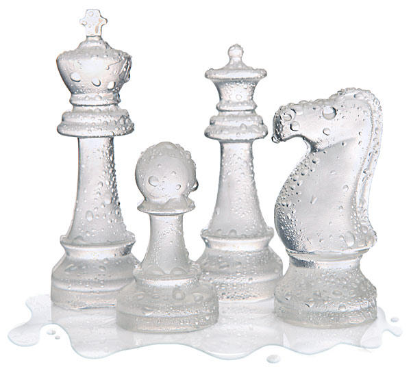 西洋棋造型冰模