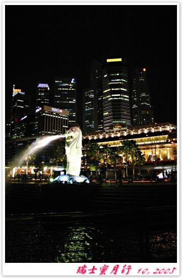 魚尾獅公園河邊夜景2