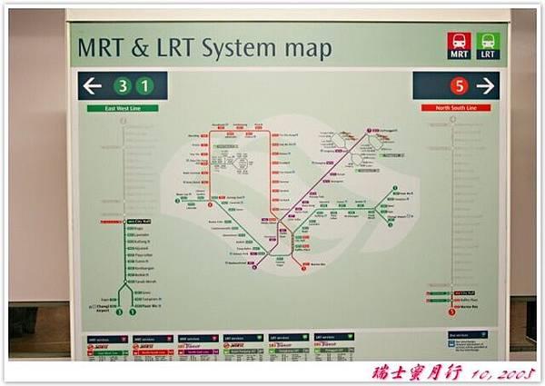 新加坡地鐵內的地圖