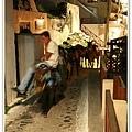 因為Santorini地勢陡峭,所以會用驢子代步