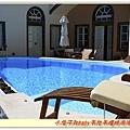 剛剛民宿的泳池,看起來好清涼