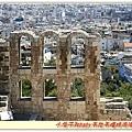 透過拱形窗鳥瞰雅典