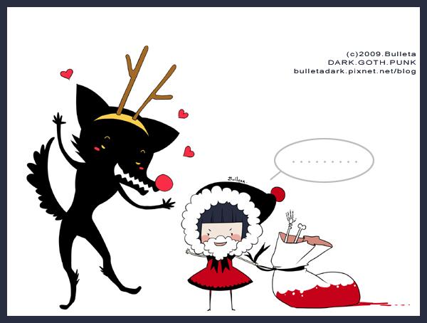 小黑帽的黑野狼-聖誕快樂