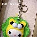 獅子王娃娃臉鑰匙圈(淺綠毛&黃色臉).JPG
