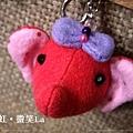 大象鑰匙圈(桃紅色).JPG