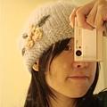 JK 針織花朵毛帽