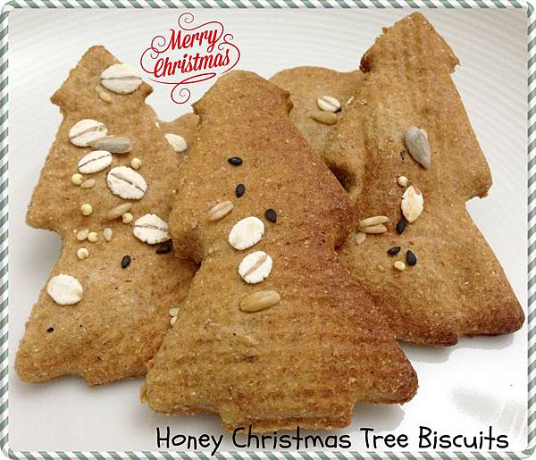 Honey Christmas Tree Biscuits 1