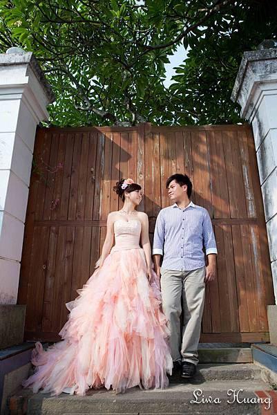 俏皮粉橘蓬蓬紗紗裙
