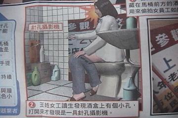 公司偷拍女員工入廁