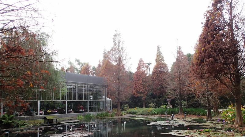 園區的坡璃屋是主要用餐區.園區雖然不大.但整體氛圍相當美耶...
