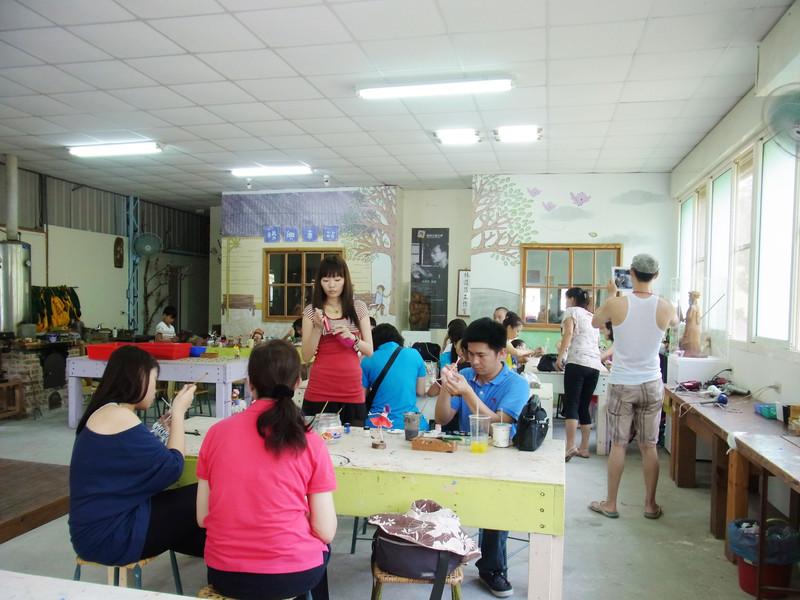 小小教室內.已經有相當多遊客來體驗囉!