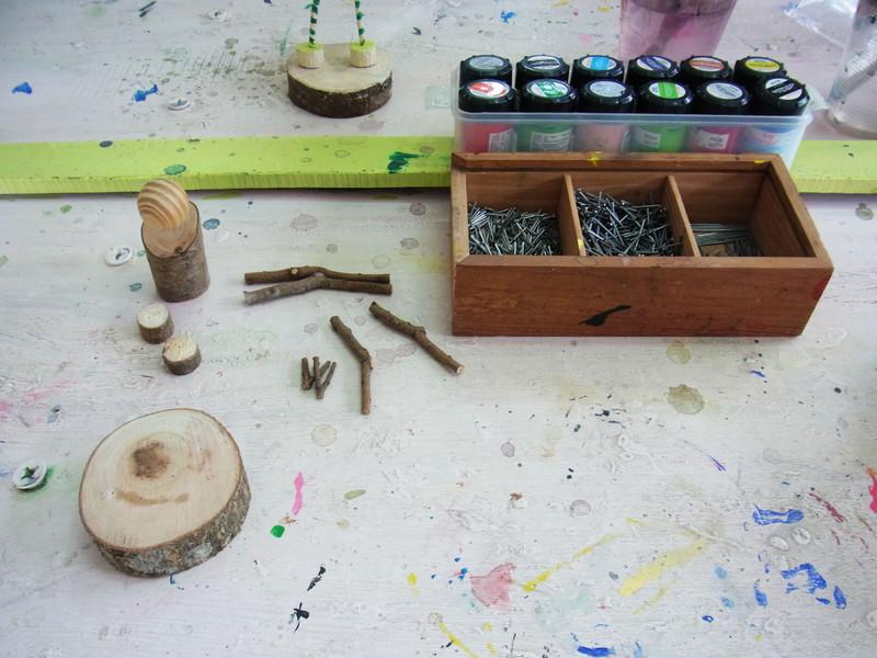 這麼特別的扎木diy和以前去的木雕坊前製過程有些不同