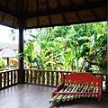 發呆亭裡還有提供泰國傳統竹子打擊樂器.讓孩子玩音樂