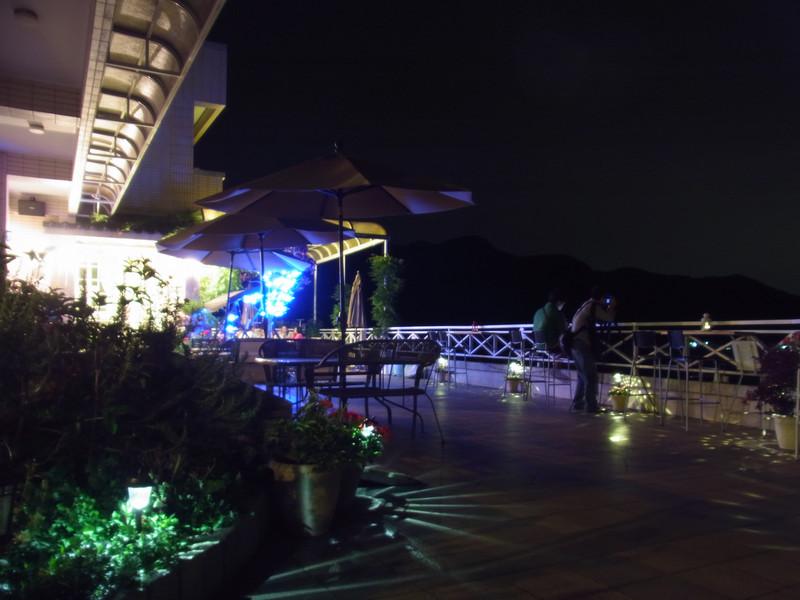 夜晚的民宿景觀
