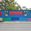 而這個社區的彩繪又叫做青蛙彩繪村