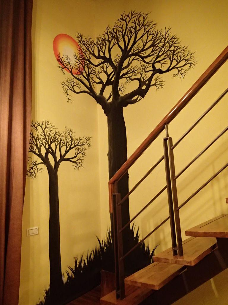 房間這彩繪區真的很漂亮