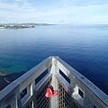 爆藍的海景