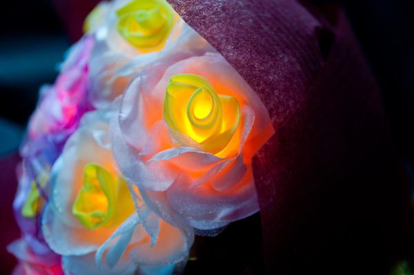 花束的近拍
